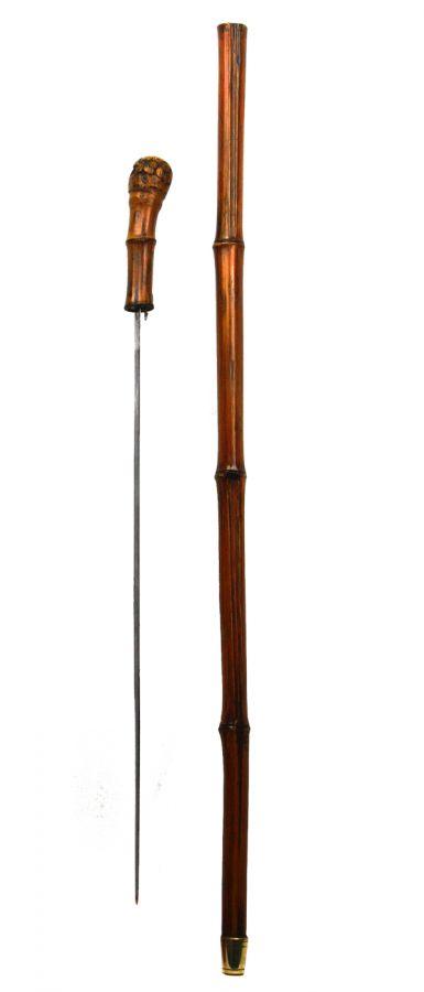 Bamboo sword stick swordsticks swagger sticks canes